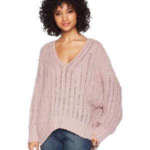Free People Infinite V-Neck Sweater - Lilac